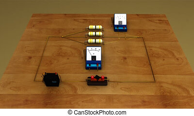 Resistors and voltmeter in parallel - A RLC circuit (the...