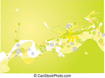 Colorful spring - Colorful spring decoration. abstract...