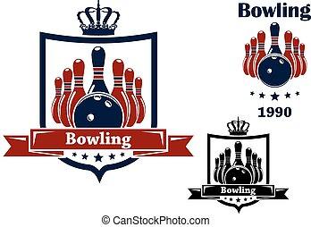 Bowling club emblem or symbol