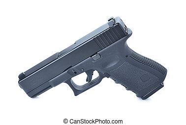gun isolated on white background, modern gun