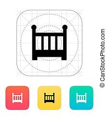 Crib icon. Vector illustration.