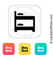 Bunk bed icon Vector illustration