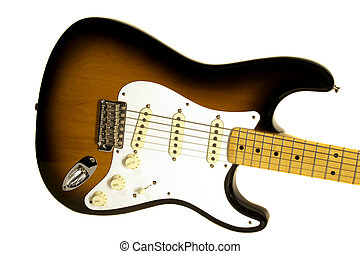Electric Guitar Body Isolated