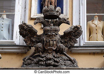 Imperial eagle emblem in Graz, Austria - Imperial eagle...