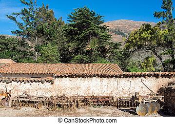 植民地, 歴史的, ペルー,  hacienda
