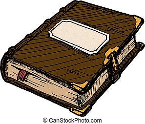 Closed book cartoon Stock Photo - 12.6KB