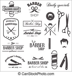 Collection of vintage retro labels, logotypes and elements...
