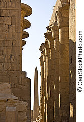 Karnak temple - Details of Egyptian art. An example of the...
