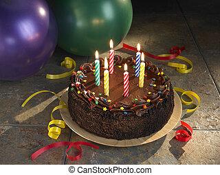 Birthday cake - Round Sixth Chocolate Birthday cake