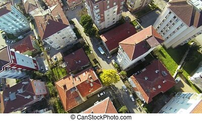 Residential housing communityAeria - Aerial Flyover shot...