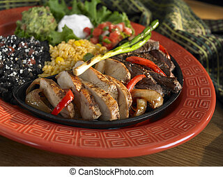 Steak and chicken fajitas - Combo fajita plater with steak...