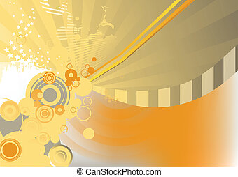 abstract background - Circle background Illustration of...