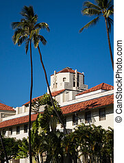 Honolulu Hale seat of Government in state - Spanish style...