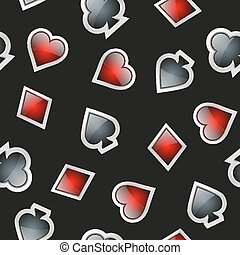 Universal casino cards seamless patterns - Universal vector...