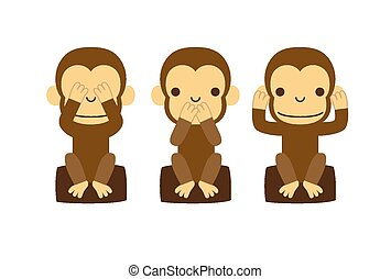 Monkey illustration - illustration created by using Adobe...