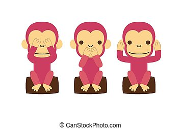 Monkey illustration - illustration created by using Adobe...
