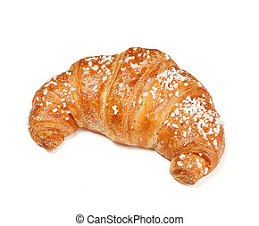 Fresh croissant - One fresh croissant isolated on white...