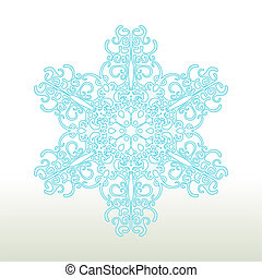 Christmas background - Decorative Snowflake Ornament Vector...