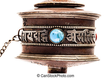 Mani wheel detail - Tibetan Prayer wheel or Mani wheel...