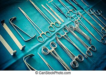 quirúrgico, abrazaderas, Colección,