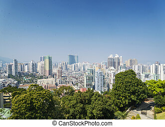 view of central macau macao residential area in china