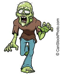 Zombie - Vector illustration of Cartoon zombie