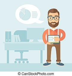 Office Presentation. - The man with a beard in glasses...