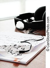 composing music concept with shallow DOF evenly matched jack of