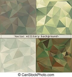 Abstract military camouflage polygonal background. Vector EPS10.