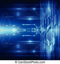 Abstract future technology system background, vector...