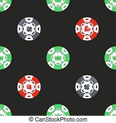 Universal casino chips seamless patterns. - Universal vector...