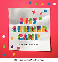 Travel themed Summer Camp poster - Summer Holiday and Travel...