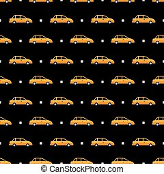 taxi pattern - Seamless pattern with cars taxi vector...