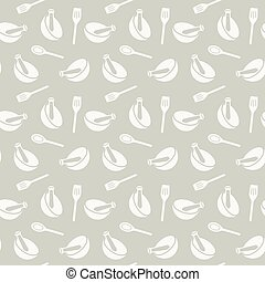 mortar and spoon pattern - Seamless pattern with mortar and...