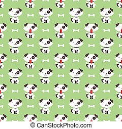 dog and bone pattern - Seamless pattern with dog and bone...