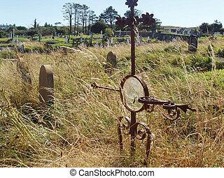 Gravesite - Sad yet bright graveyard.