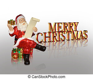 Merry Christmas Santa background - Image and illustration...