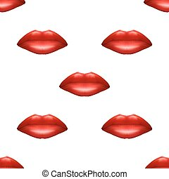 Universal red lips seamless patterns. - Universal vector red...