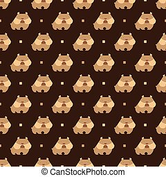 bulldog pattern - Seamless pattern with dog bulldog vector...