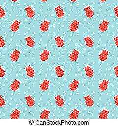 polka dots pitchers pattern - Seamless pattern with polka...