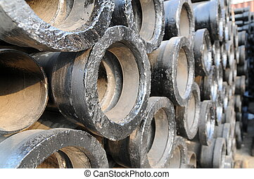 Background of pipes
