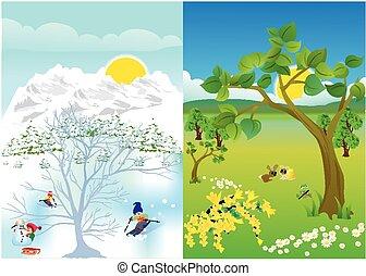 Winter summer Vector Clipart Illustrations. 12,700 Winter ...