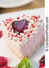 heart-shaped valentine cake - tasty heart shaped valentine...