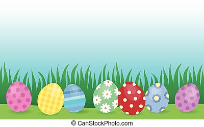 Easter eggs thematic image 4 - eps10 vector illustration.