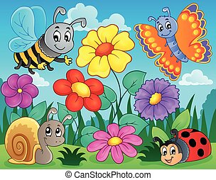 Flower topic image 5 - eps10 vector illustration