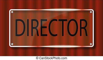 Director Door Plaque