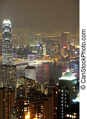 Night scene fo Hong Kong - Night scene of Hong Kong from the...