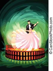 Ballroom Dancing Couple on Magic Arena