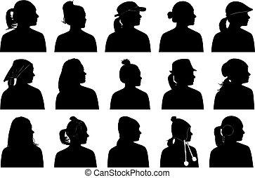 Illustration of women portraits