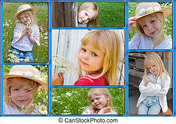 Childhood Memories - Collage of happy childhood memories.